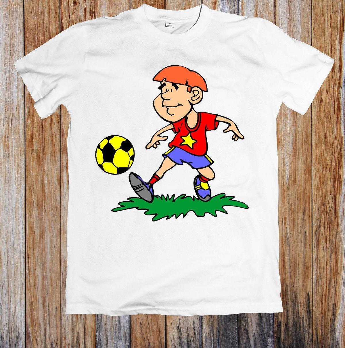 3ce3a3d99 SOCCER PLAYING BOY FUNNY UNISEX T SHIRT T Shirt Prints T Shirt Designing  From Yuxin001, $13.8| DHgate.Com