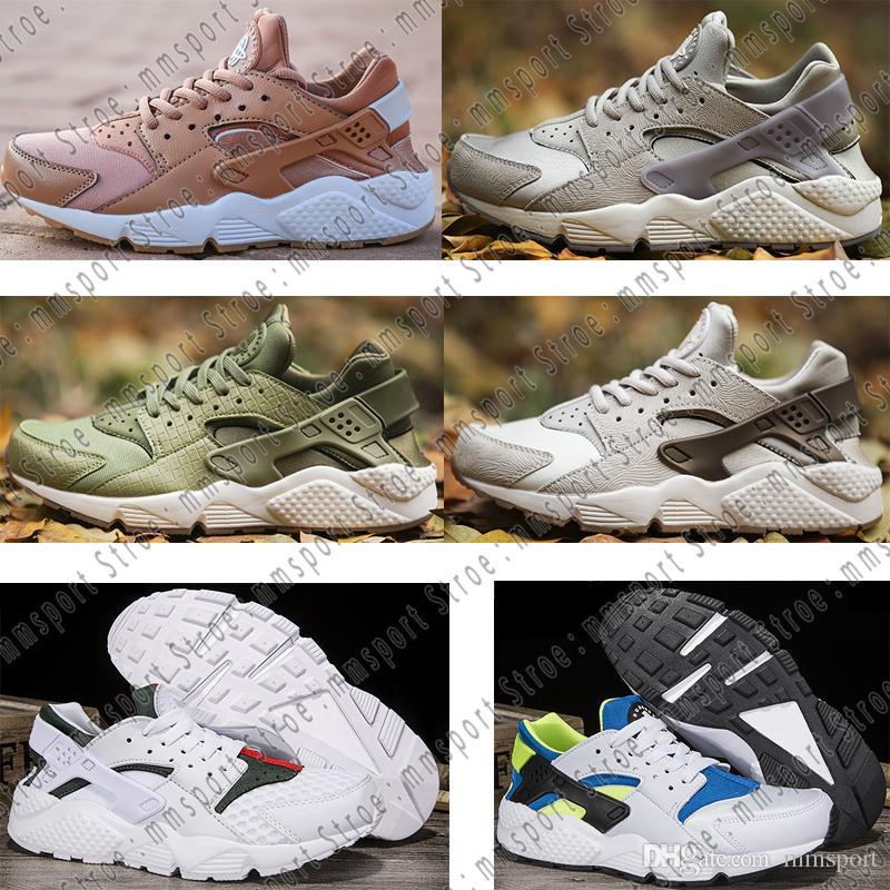new styles 7734c ba383 Acheter 2018 New Nike Air Huarache Fashion Ultra Chaussures De Course,  Hommes Femmes Respirant Athlétisme Discount Sneakers De Haute Qualité Pas  Cher ...