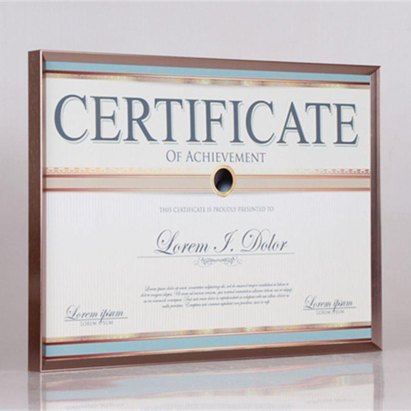 2018 50*70cm Shiny Aluminum Certificate Frame Business License ...