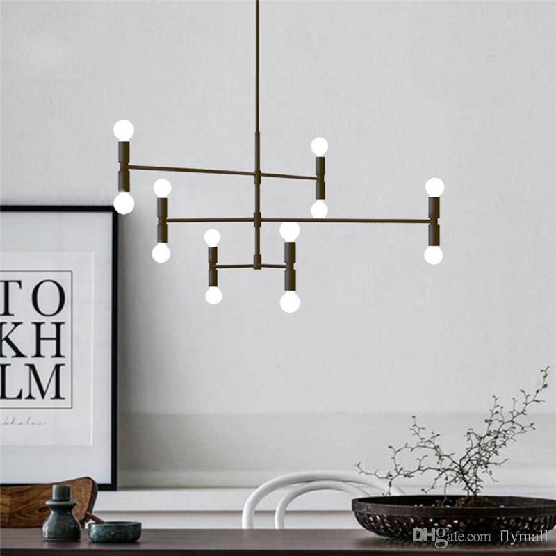 الإضاءة الحديثة قلادة الصمام أضواء السقف الثريا غرفة المعيشة مطعم فروع معلقة مصباح مع 12 أضواء تركيبات فلوش جبل