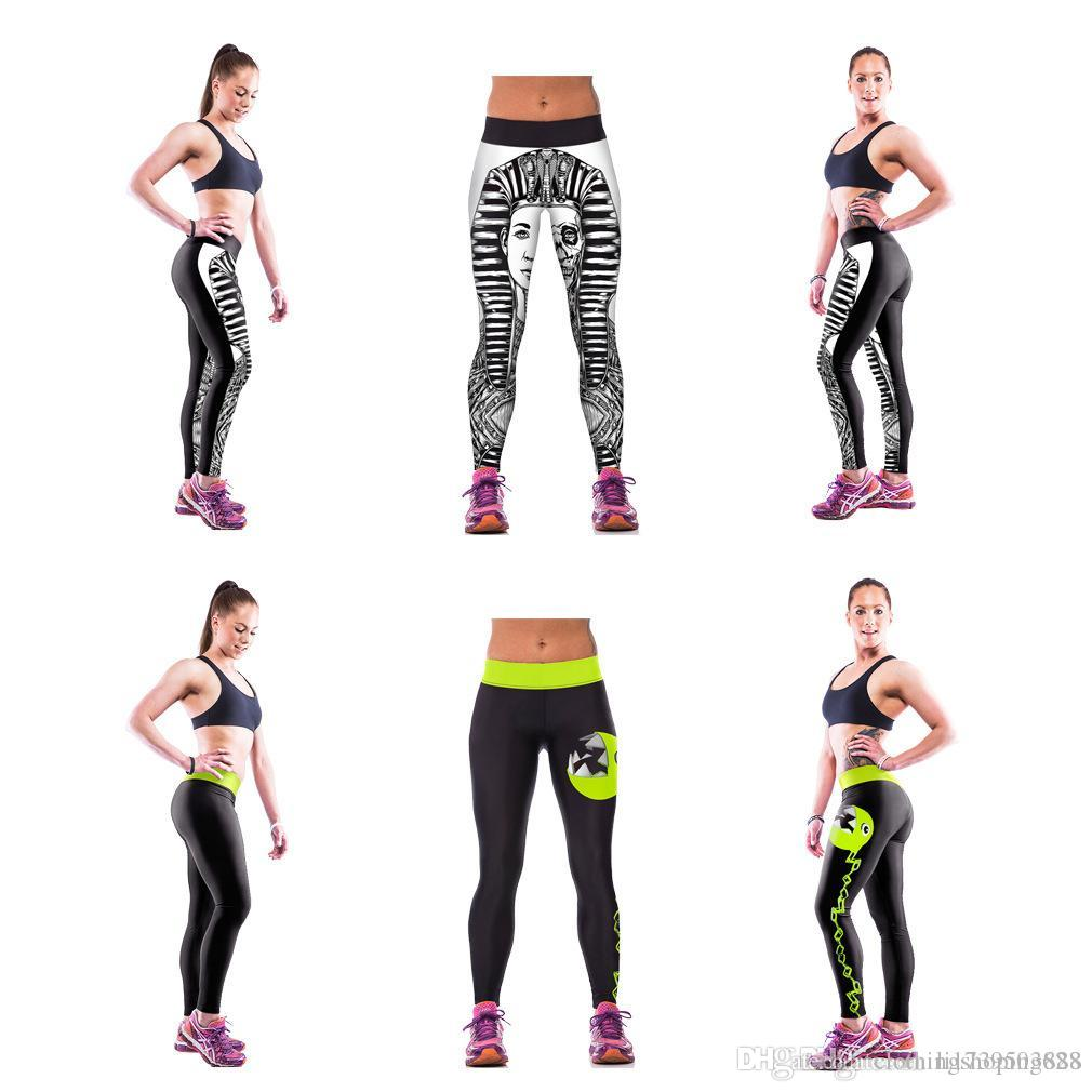 66da6ffd2895 2019 Women Sport Yoga Pants Fitness Leggings Light High Elastic Shine  Leggins Workout Slim Fit Women Pants Black Jeggings Trousers 2018 New From  ...