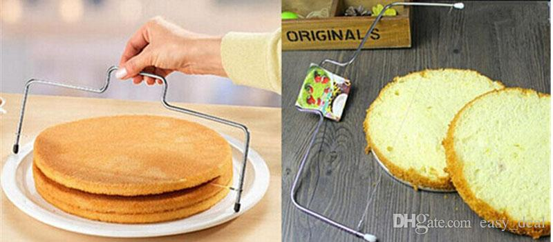 Stainless Steel Adjustable Wire Cake Slicer Leveler Slices Cake Cutter Tool Kitchen Baking Accessories ZA5663