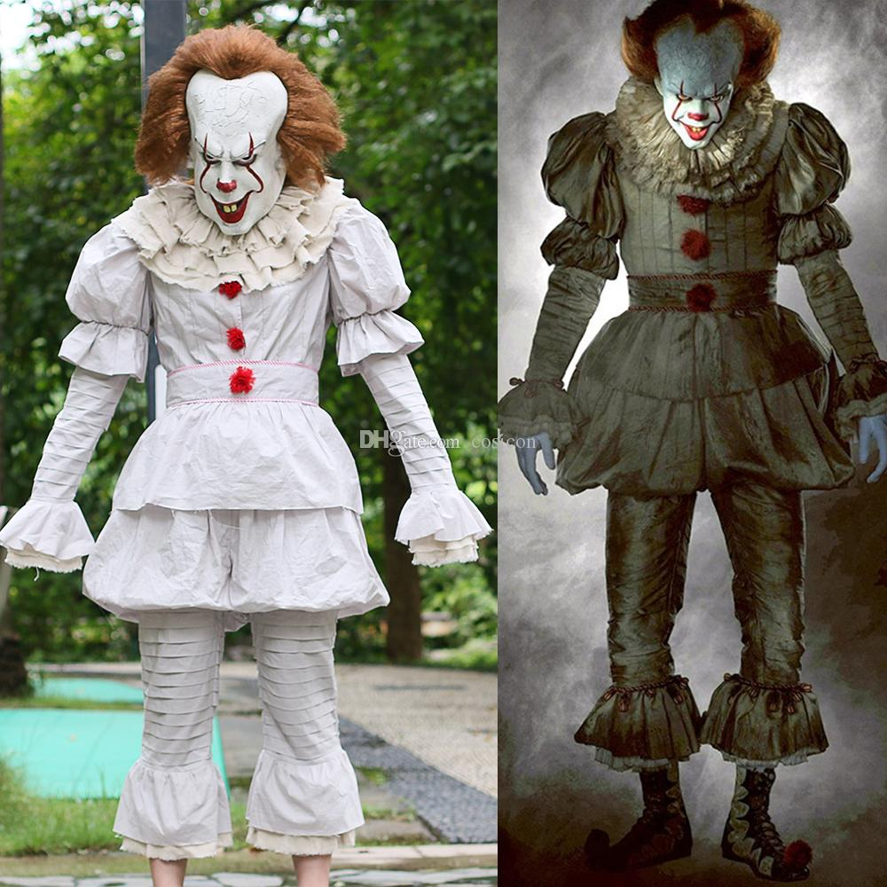 c9c8a7b3e87f Acquista Costume Cosplay Di Stephen King s Cosplay Clown Maschera Adulti  Set Completo Costume Di Halloween Terror Costume Masquerade A  79.49 Dal  Cosicon ...
