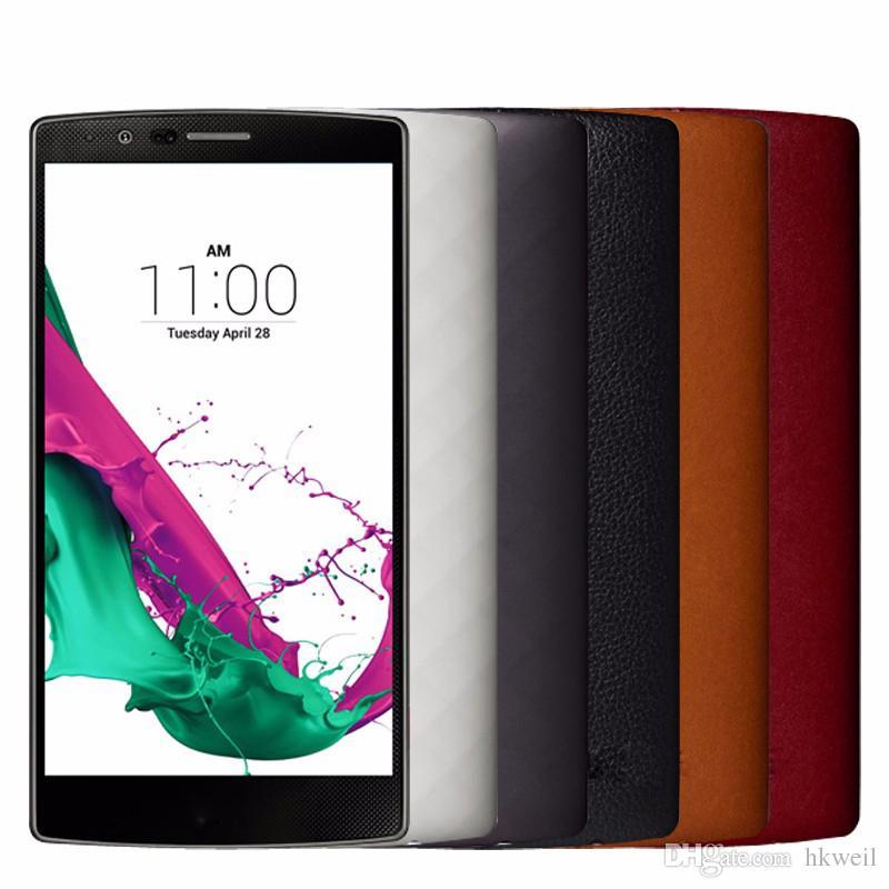 LG G4 original teléfono inteligente 5.5 pulgadas Hexa Core 16MP cámara 3G RAM 32G ROM 4G LTE reacondicionados teléfonos celulares