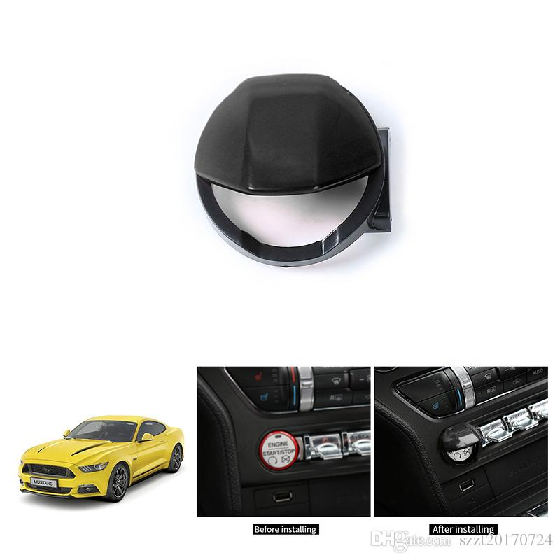 ABS Sticker Car Start Button Cover Decoration Cover For Ford Mustang 2015+ Car Styling Interior Accessories