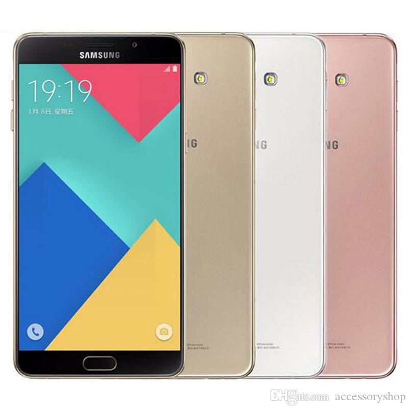 Refurbished Original Samsung Galaxy A9 2016 A9000 Dual SIM 6.0 inch Octa Core 3GB RAM 32GB ROM 13MP 4G LTE Unlocked Cell Phone DHL 1pcs