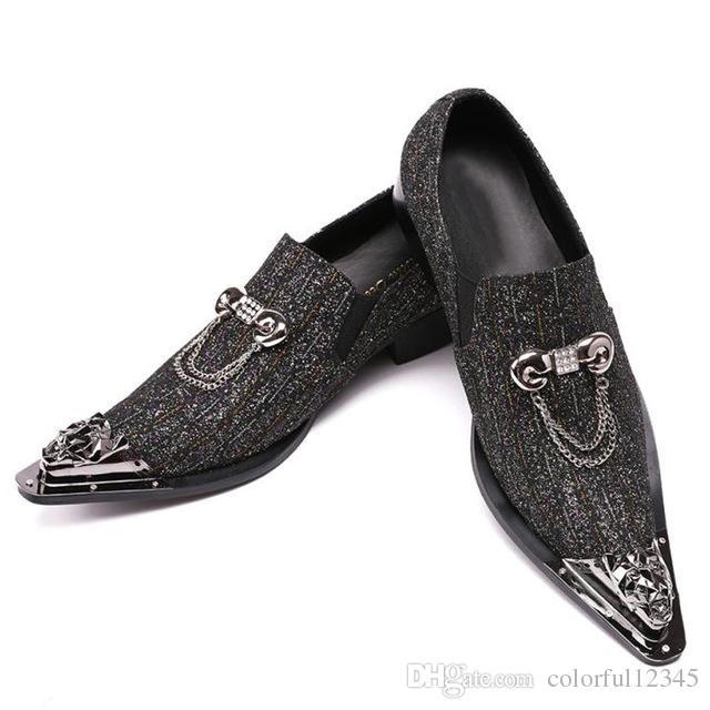 365fe123 Compre Moda Gris Italiano Hombres De Negocios Zapatos De Cuero Elegante  Vestido Formal Pisos Diseñador Calzado De Oficina Marca De Lujo Oxford  Zapatos Para ...
