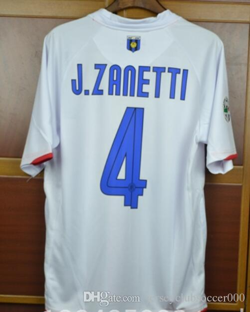 2019 Best 07 08 Centenary Zlatan Ibrahimovic Figo J.Zanetti Retro Soccer  Jersey 2007 2008 Milan Away White Shirt Materazzi Crespo Football From ... 0b4622aae