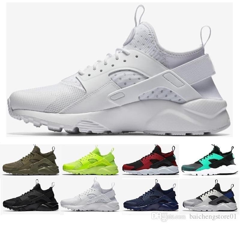 lowest price 97a49 868db Acheter Nike Air Huarache Air Huarache Ultra Chaussures De Course Triple  Blanc Noir Huraches Running Formateurs Pour Hommes Femmes Chaussures De  Plein Air ...