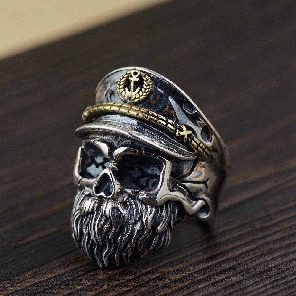 rings world skeleton products biker ring image product silver sterling
