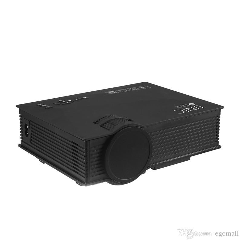UC46 Proyector 1200LM 3D LED Soporte de proyector wifi 1920x1080 DLNA AV USB HDMI VGA SD Mini Pantalla de proyector de video casero Proyector de TV Proyector