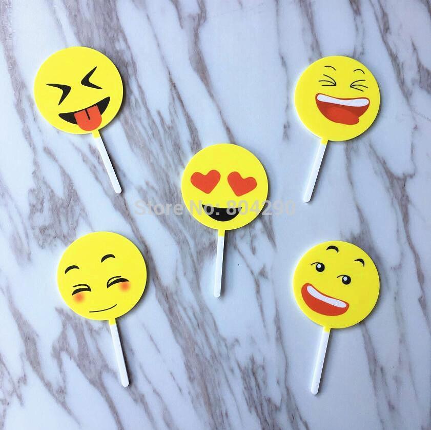 2019 Creative Design Emoji Acrylic Cake Topper Wedding Birthday Party Decoration From Liuyanggarden 1202