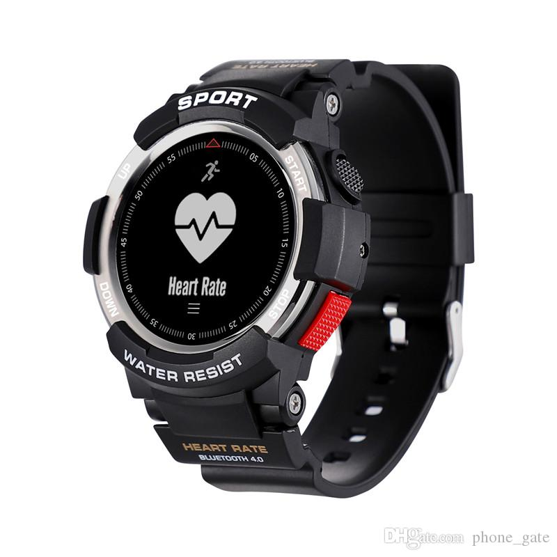F6 Smart Watch IP68 Watchproof Support IOS Andorid System Remote Camera Monitoring Bluetooth Luxury Watch TPU Strap News Reminder Wristband