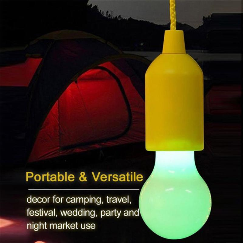 Color Changing Led Pull Cord Light Home Improvement Hanging Lamps