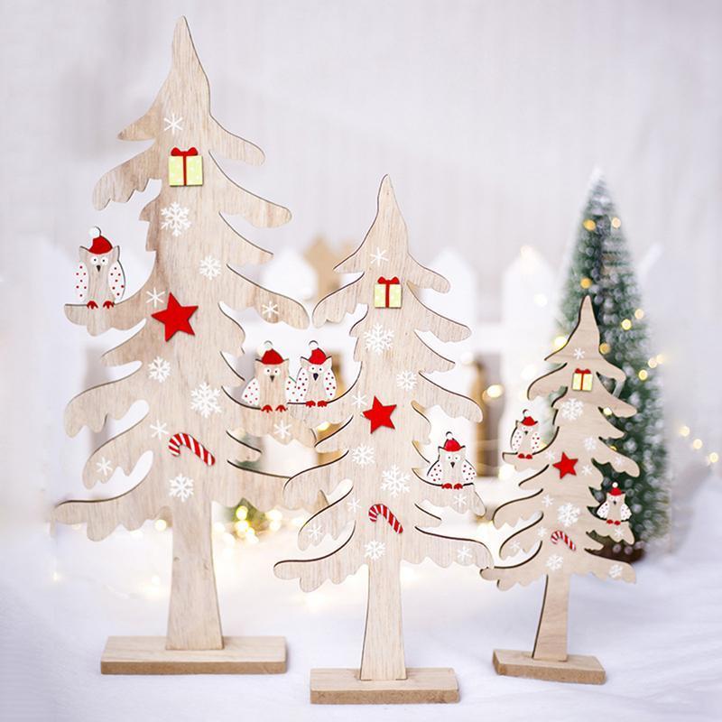Großhandel Weihnachten Holz Kreativer Desktop Kleiner Weihnachtsbaum ...