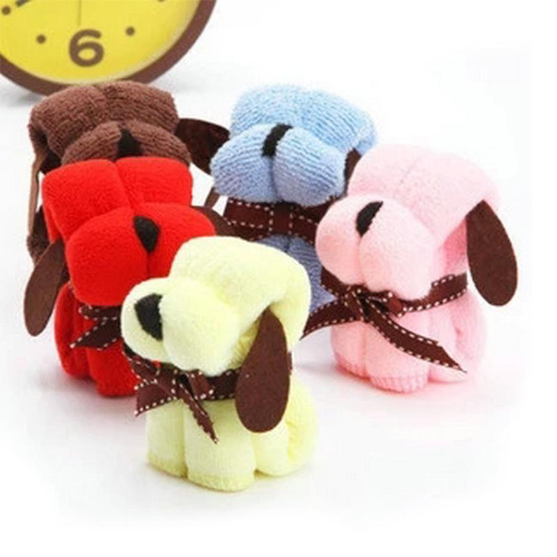 12pcs Cartoon Dog Cake Towel Wedding Favor And Gifts For Guests Souvenirs For Girl Boy Kids Happy Birthday Party Favor Supply