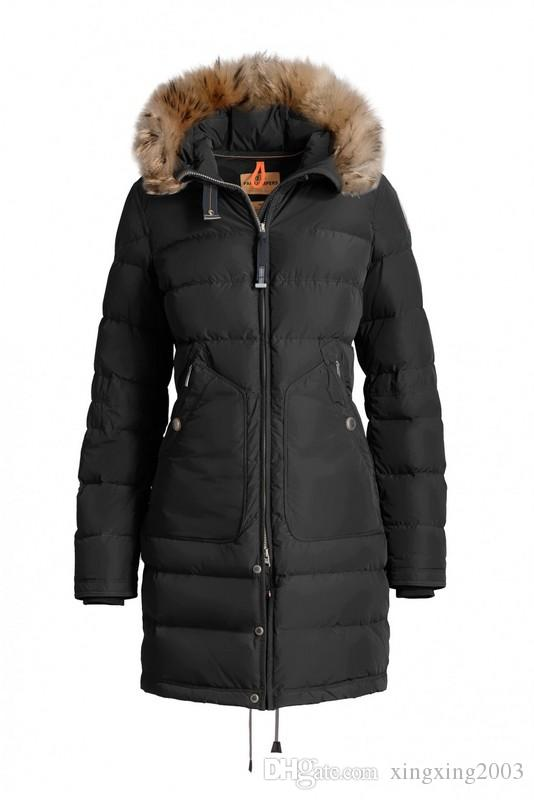 30bee9845 2018 Italy Brand New Women's light long bear DOWN JACKET parkas Hoodie  Black Navy Gray Jacket Winter Coat/Parka With Free Shipping Outlet
