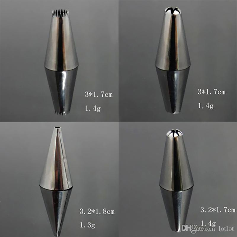 Icing Nozzles Stainless Steel Flower Mouth Icing Piping Nozzles with Converter Cake Cookie Decorating Tool
