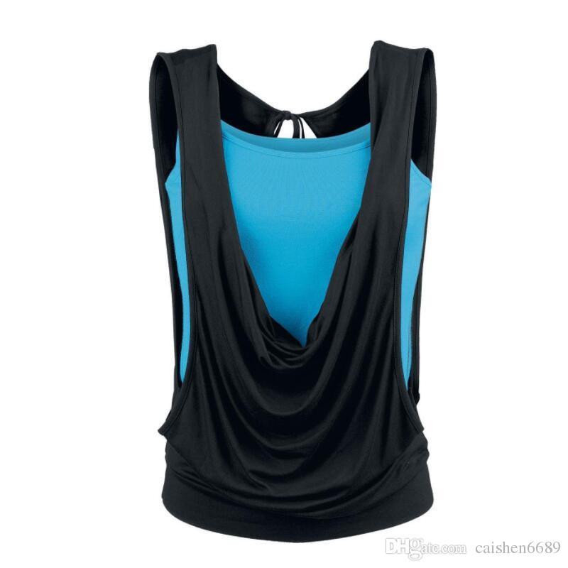 Sıcak büyük boy kadın giyim T-shirt 2018 yeni yaz Yelek astarlama 2 parça suit casual kadın set gevşek kolsuz T-shirt + Jartiyer yelek