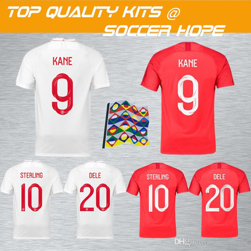 e3a617db6 2018 World Cup Men Soccer Jersey with Name Set Printed KANE STERLING ...