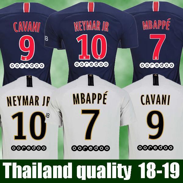 Tailandia Maillot Psg Camisetas De Fútbol 2018 2019 Maillot De Foot MBAPPE  CAVANI BUFFON Jersey 18 19 Kits De Fútbol Camiseta De Fútbol HOMBRE TALLA  DE ... e8f7691ddf80f
