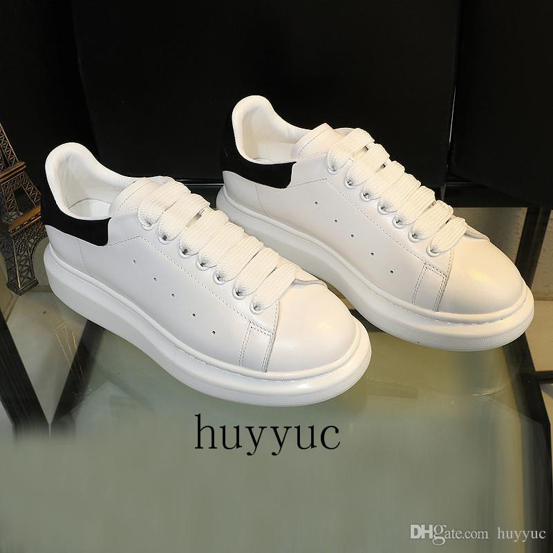 Mens Womens Casual Ayakkabı Yaz Nefes Sneaker Kazınmış Deri Paris Beyaz Ayakkabı Muffin Spor Sneakers Düz Deri