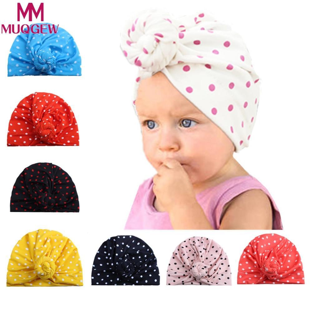 f7771f40afa 2019 MUQGEW New Baby Boy Sun Hat Cotton Newborn Toddler Baby Girl Beanie  Cute Turban Cotton Beanie Hat Winter Warm Cap From Entent