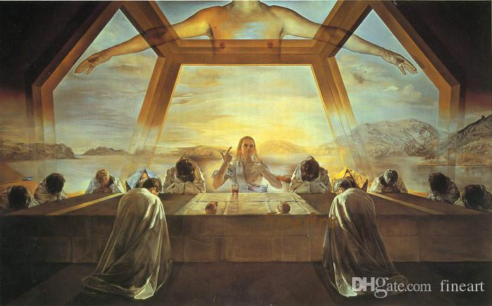 100% handpainted famous artists canvas painting reproduction The Last  Supper salvador dali painting beautiful artwork paintings art pieces l