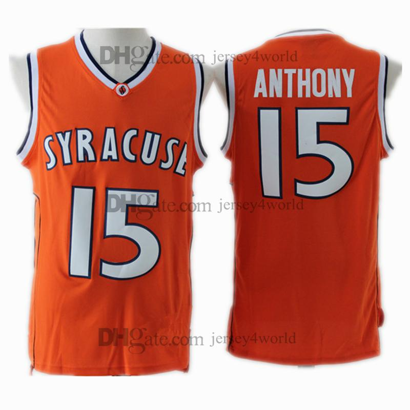 NCAA Syracuse College  15 Carmelo Anthony Jersey Orange Men S 100%  Embroidery Stitched Basketball Jerseys Cheap Wholesale UK 2019 From  Jersey4world 2ea603a18
