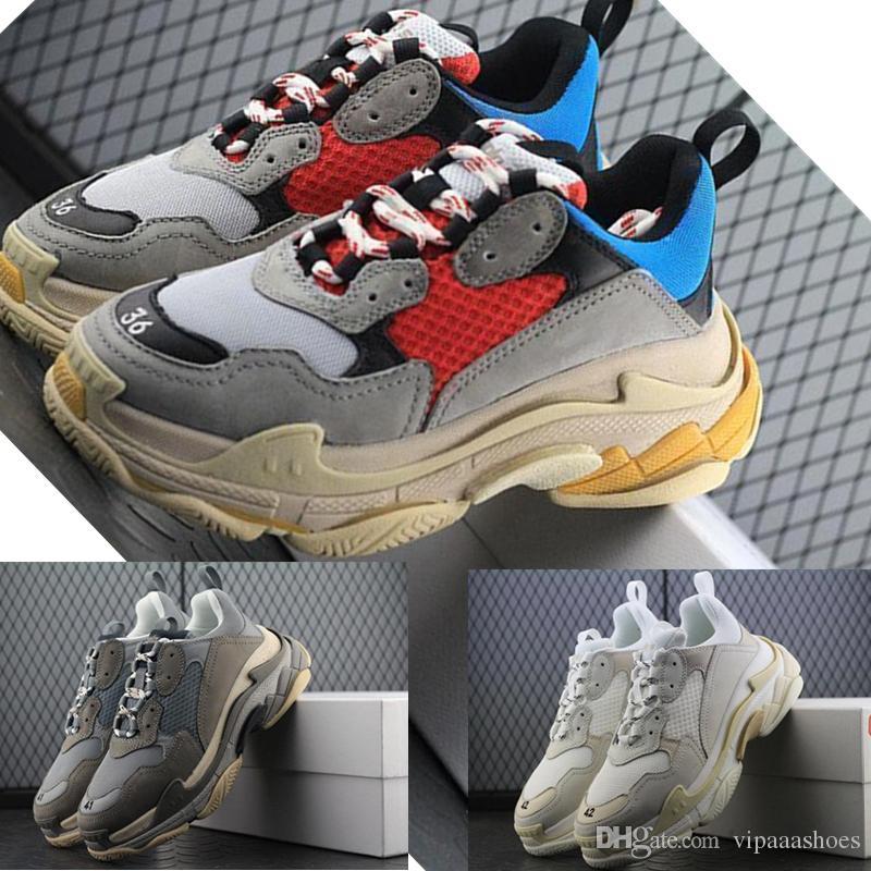 Scarpe Calcio Bambino Balenciaga SNEAKER TESS S GOMMA Vendita Calda Novità  Sneakers BL Triple S 17FW Uomo Donna Scarpe Da Corsa Vintage Sneaker Kanye  West ... 36e4bb9b8b3