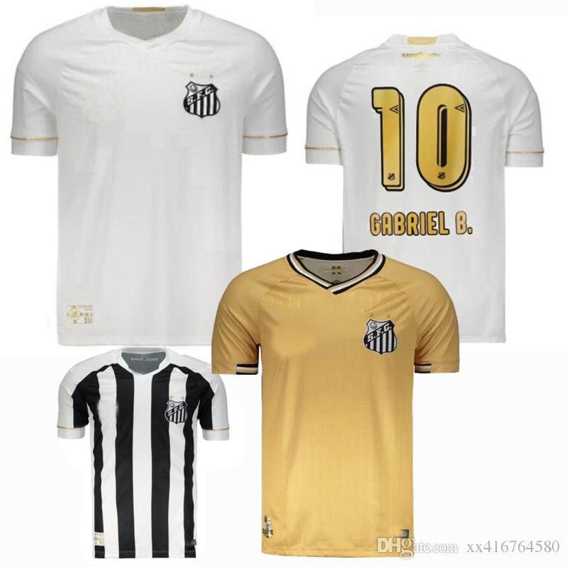 Compre Novo 2018 2019 Brasil Santos FC Camisola 18 19 Home Away 3º GABRIEL  B. DODO B.HENRIQUE Melhor Qualidade Camisas De Futebol De Xx416764580 06aaab375ce63