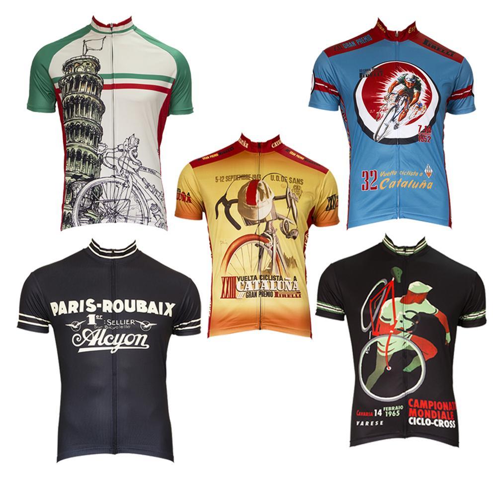 Compre França Retro Ciclismo Jerseys Homens De Manga Curta Estilo Velho Mtb  Bicicleta Roupas De Verão Bicicleta Desgaste Roupas De Shinny33 cb42b6844ae13