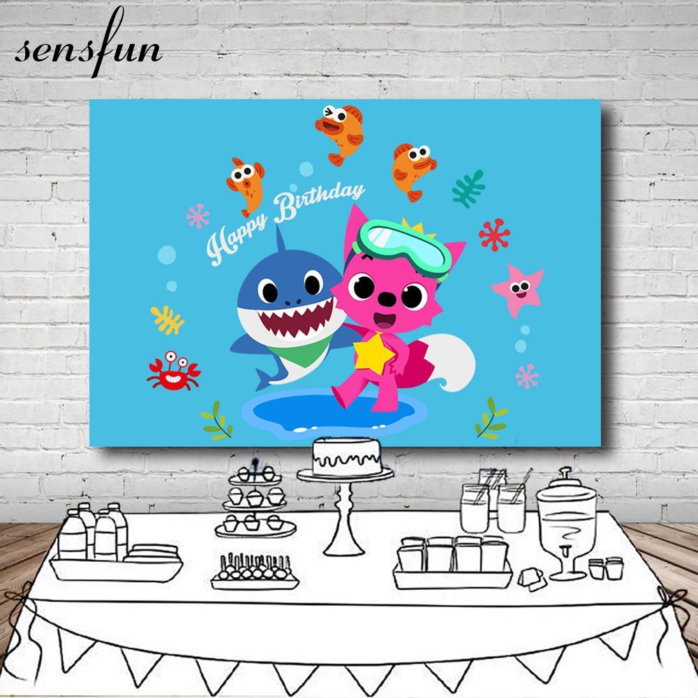 Compre Venta Al Por Mayor Bebe Tiburon Pinkfong Telon De Fondo Azul