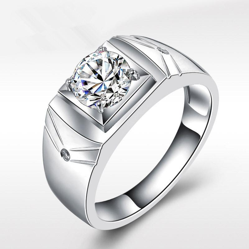 Male Wedding Bands.Silver Men S Wedding Rings Opening Big Cubic Zircon Ring Male Wedding Rings Fashion Jewelry Anillos Bague