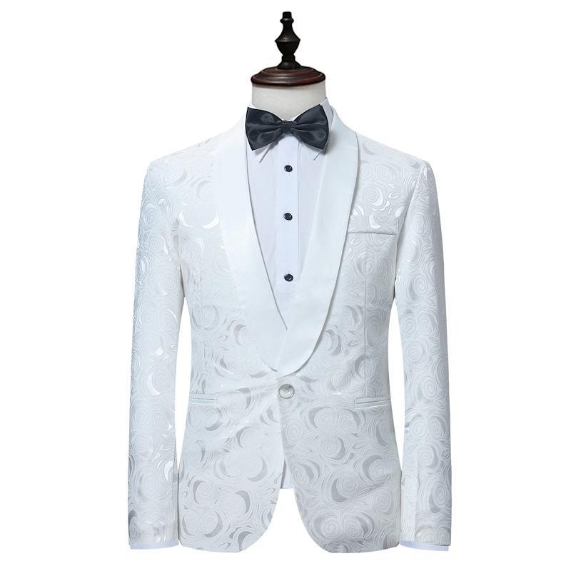 Compre Marca Para Hombre Blazer Chaqueta De Abrigo Bordado De Un Botón  Elegante Slim Fit Blazers Traje De Boda Prendas De Vestir Exteriores Estilo  De ... 93ae1f77771