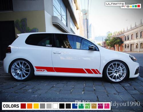 Sticker Decal Vinyl Side Door Stripes for Volkswagen Golf MK6 GTI R Sport Skirt