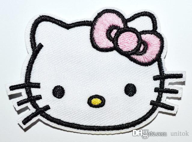 Wholesale hello kitty iron on patches made of cloth guaranteed high