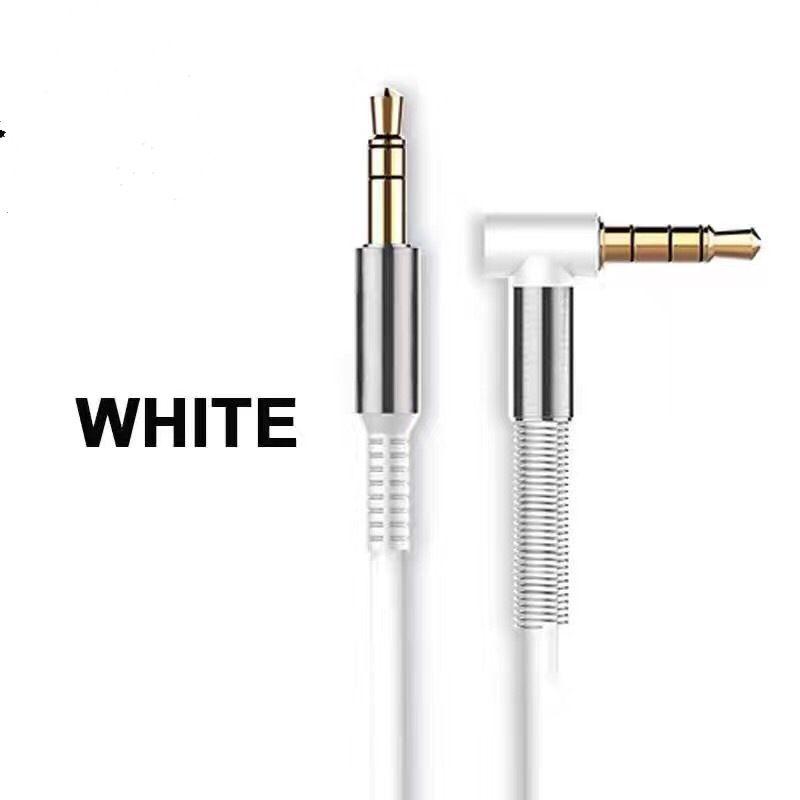 2018 Alliage D'aluminium De Voiture Aux Câbles 3.5mm Mâle à Mâle Angle Droit De Voiture Auxiliaire Audio Câble Cordon Pour Téléphone MP3 De Voiture Stéréo cab273