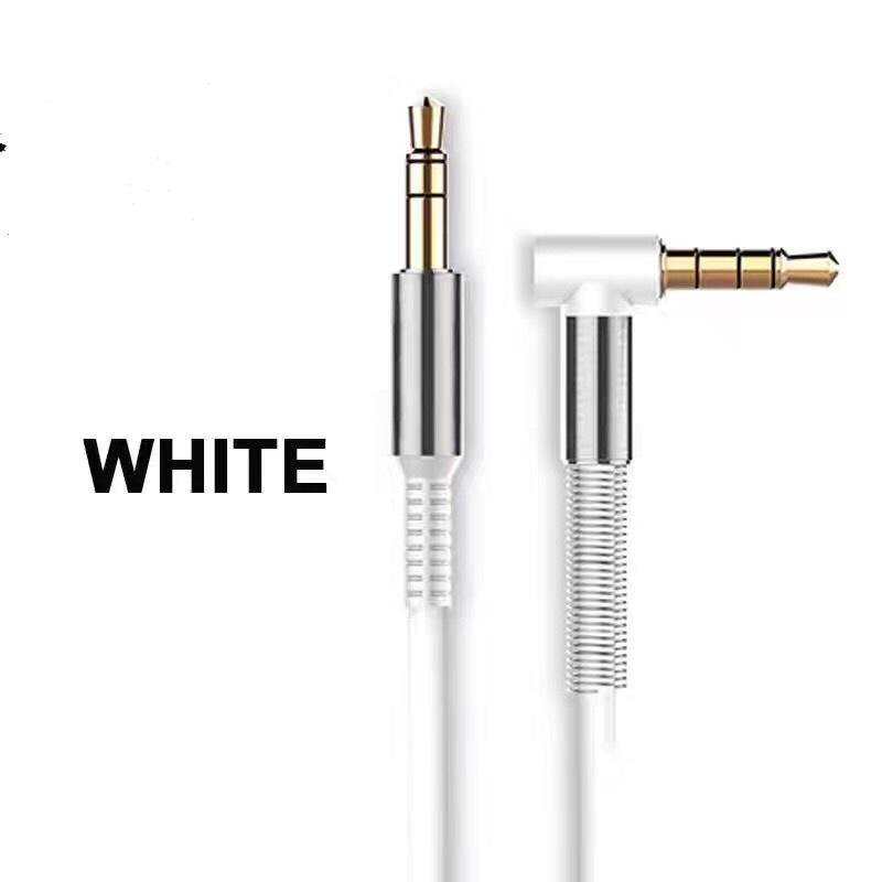 2018 Aluminum Alloy Car Aux Cables 3.5mm Male to Male Right Angle Car Auxiliary Audio Cable Cord For Phone MP3 Car Stereo cab273