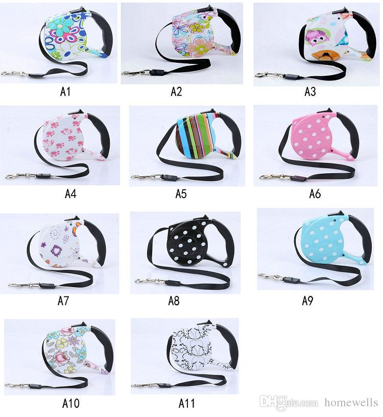 2018 Multi Colors 3M 5M Automatic Retractable Traction Rope Magic Pet Dog Cat Puppy Automatic Tractor Dog Rope Walking Lead Leashes