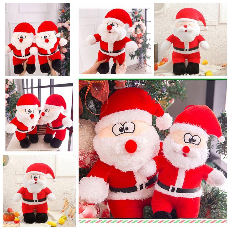 1419023dde53 Santa Claus Plush Toys Cartoon Christmas Stuffed Dolls Children Xmas Kids  Gift Home Decoration Novelty Items 25cm/40cm LDH215 Fun Toys For Christmas  Top ...