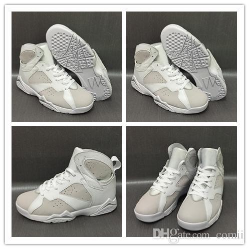 rencontrer 08061 baefc Nike Air Jordan Retro Shoes Nouvelle Haute Qualité nouvelle 7 Pure Money  Chaussures De Basket-ball Hommes 7s Métallique Argent Pure Platinum ...