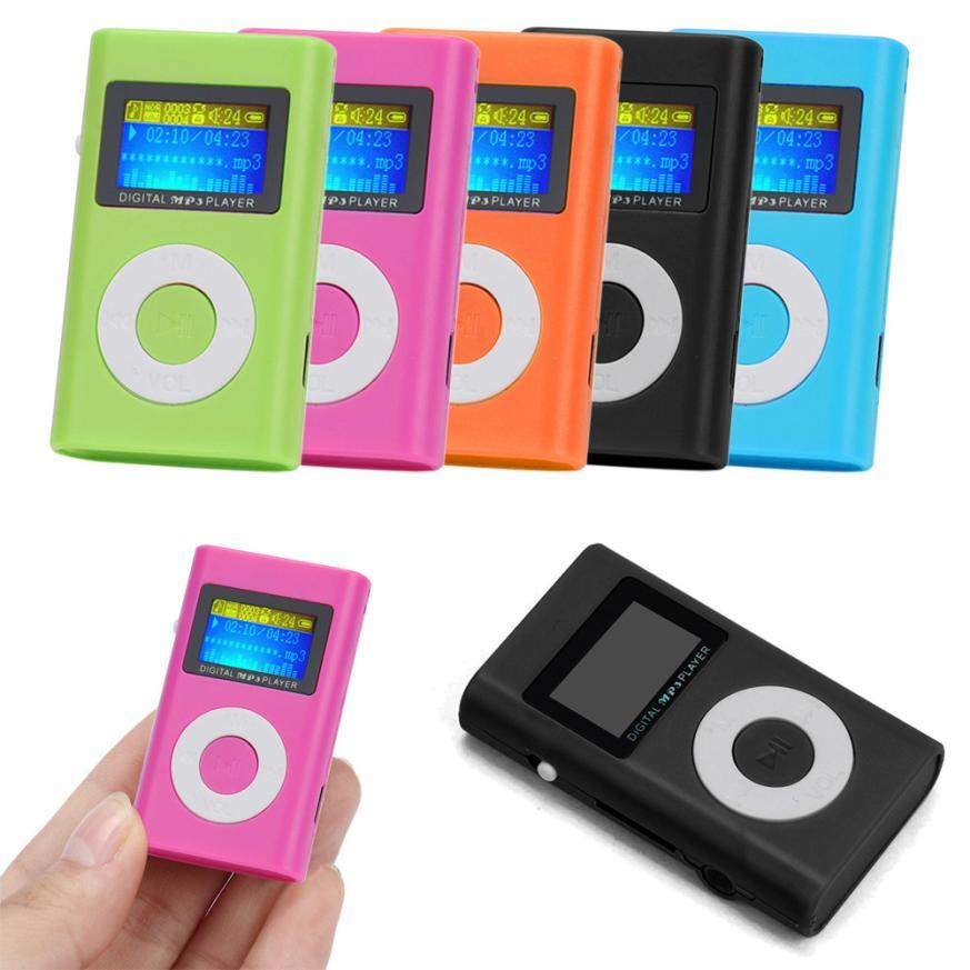 Unterhaltungselektronik Mini Clip Mp3 Usb Lcd Screen Unterstützung 8 Gb Flash Tf Player Mp3 Musik Fm Radio Mini Musik Player Produkte HeißEr Verkauf Mp3-player