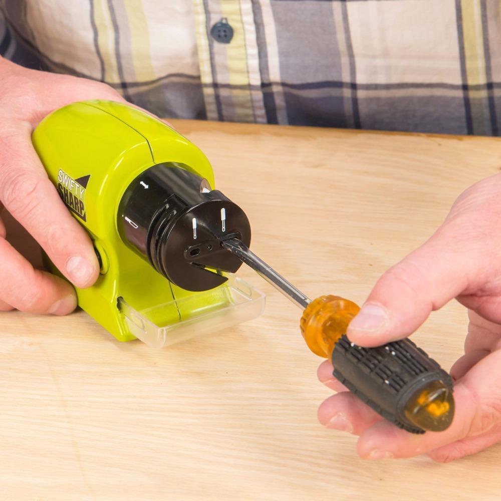 Aiguiseur de couteaux électrique Aiguiseur de couteaux motorisé sans fil multifonctionnel pointu et tranchant Sharp 341