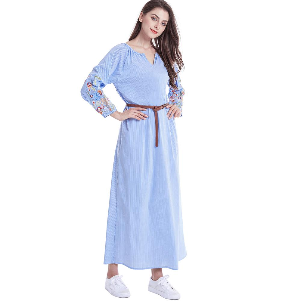 29c12f126d6 Cheap Dresses Women Bohemian Maxi Long Sleeve Casual Dress Vintage ...