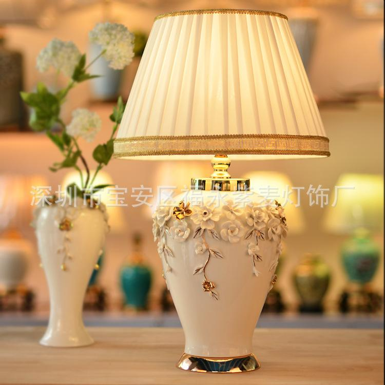 2019 Tuda 38x62cm New Chinese Style Table Lamp White Vase Ceramics