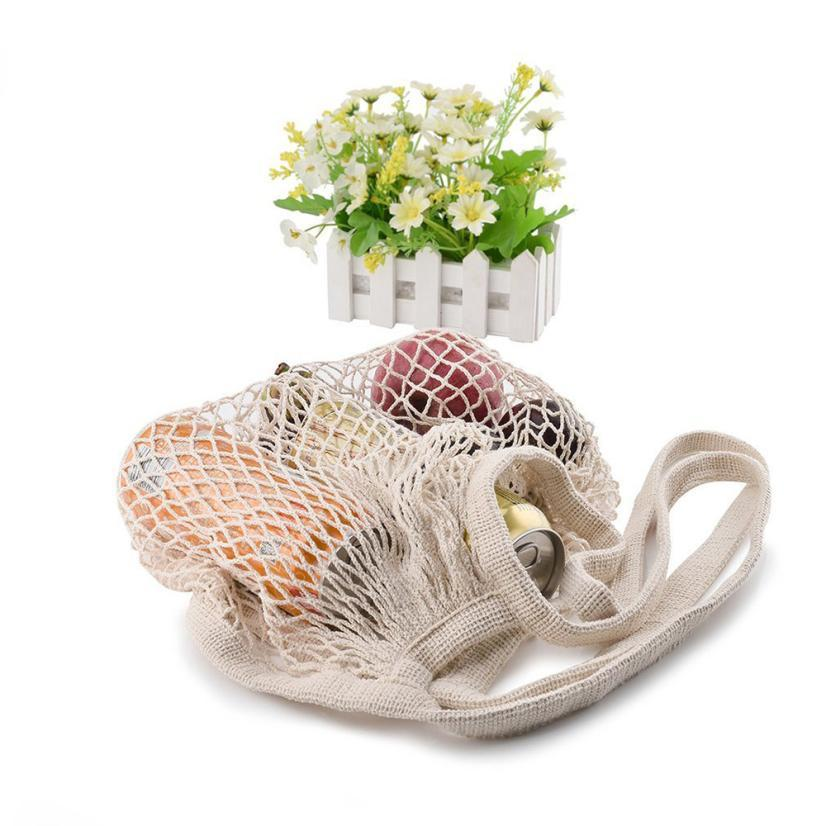 Mesh Net Turtle Bag String Fruit Vegetable Shopping Bag Casual Net cloth Women Bag Reusable Fruit Storage Handbag Totes Female
