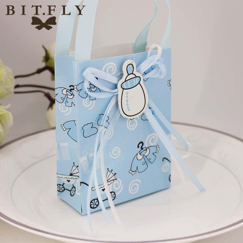 Party Favors Baby Shower Paper Candy Box Gift Bag Christening