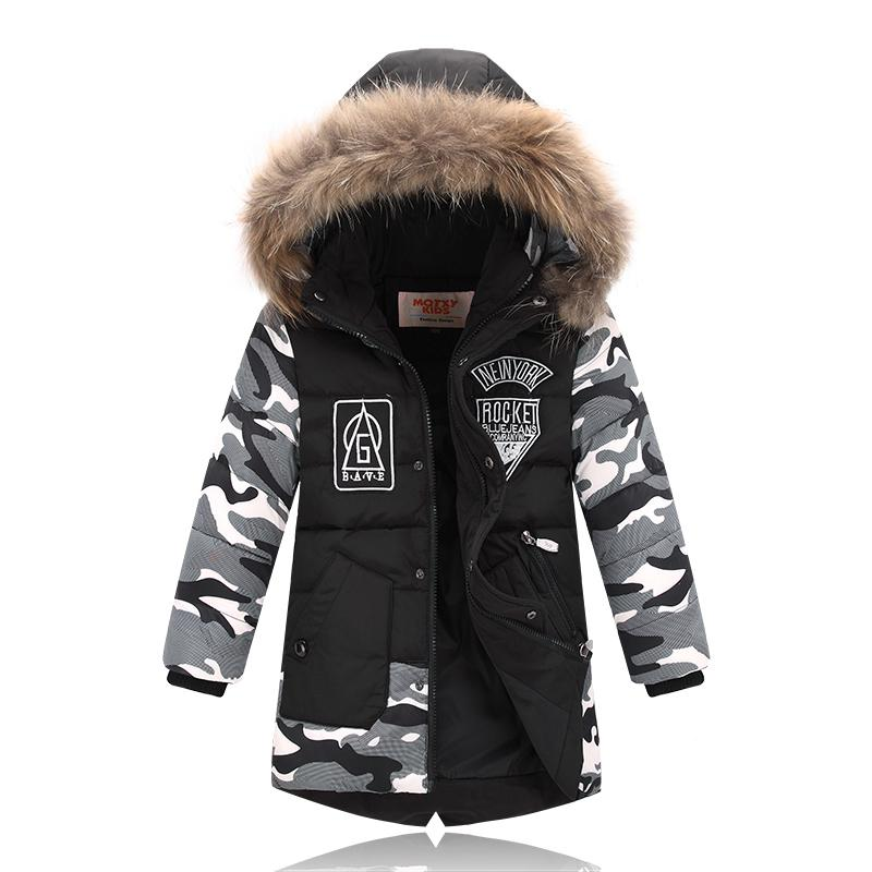 b1ce30e39e4b Kids Winter Coats Baby Boys Outerwear Down Jacket Boys Winter Coats Duck Down  Boys Winter Parkas 2 3 4 5 6 7 8 9 10 Years Old Y18102508 Girls Down Parka  ...