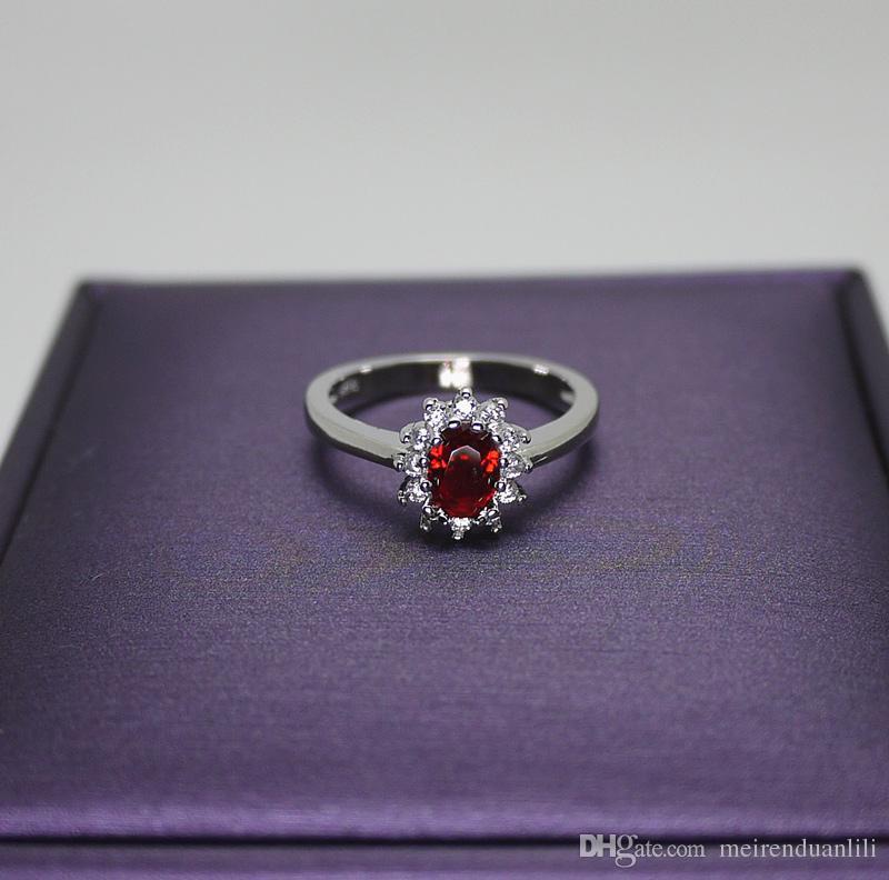 Kırmızı / Mavi Tırmanmak Kristal Yüzük Platin Kaplama Romantik Yüzük Kübik Zirkon Kadınlar Çift Ücretsiz Kargo Ile sevgililer Günü Lüks Jewellry